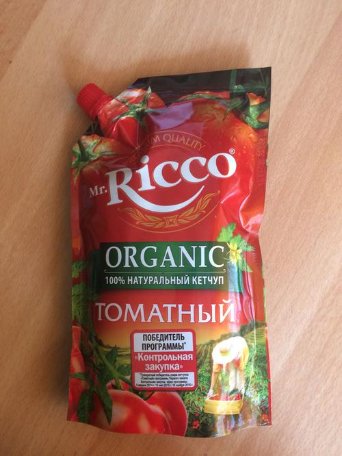 цена Кетчуп томатный Pomodoro Speciale Mr.Ricco. Высшая категория. Пастеризованный.
