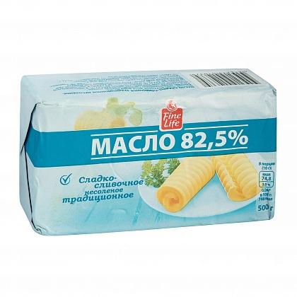 Масло сладко-сливочное традиционное несолёное. Высший сорт. Массовая доля жира 82.5%