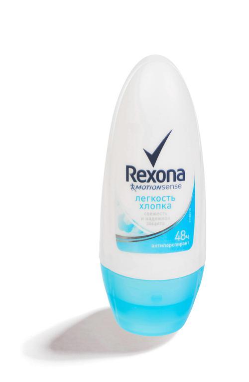 """описание Дезодорант ролик антиперспирант """"REXONA"""" свежесть хлопока 50 мл."""