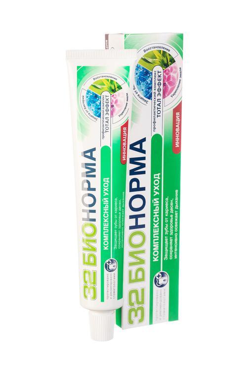 стоимость Зубная паста 32 бионорма тотал эффект комплексный уход