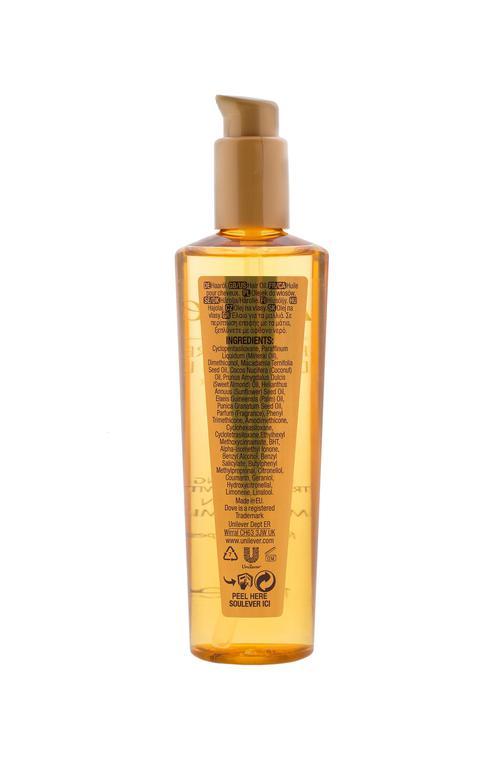 описание Масло для волос Dove Advanced hair series Преображающий уход