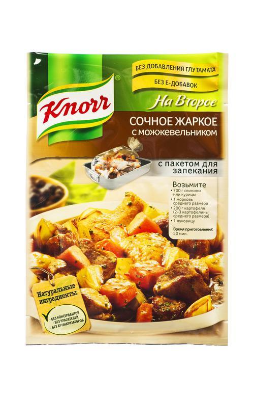 отзыв Приправа Knorr на второе сочное жаркое с можжевельником 24г