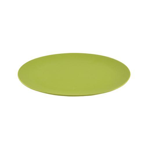 Тарелка 25x1,4см Плоская, цвет Желтый (бамбуковое волокно)