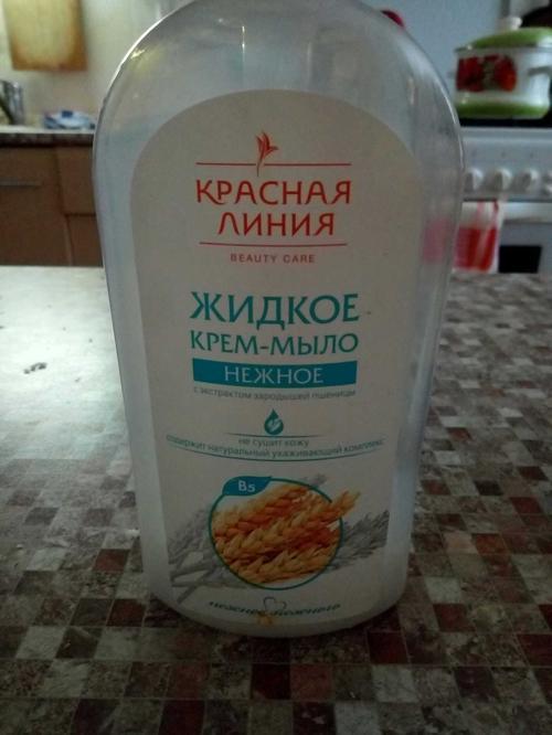 """описание Мыло """"Красная Линия"""", """"Нежное"""" жидкое"""