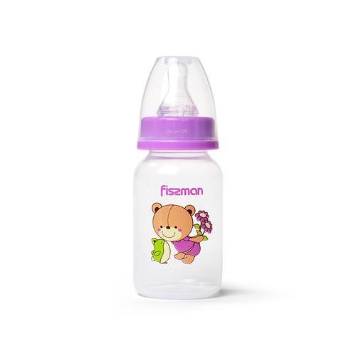 Бутылочка для кормления 120 мл, цвет ФИОЛЕТОВЫЙ (пластик)