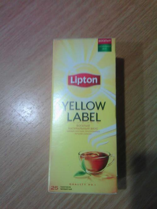 фото9 Чай Lipton Yellow Label черный, 25пак.