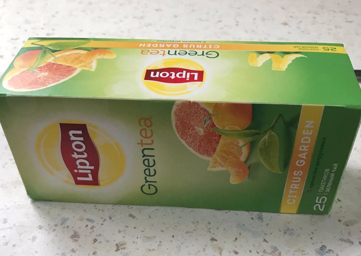 фото1 Lipton CITRUS GARDEN GREEN TEA