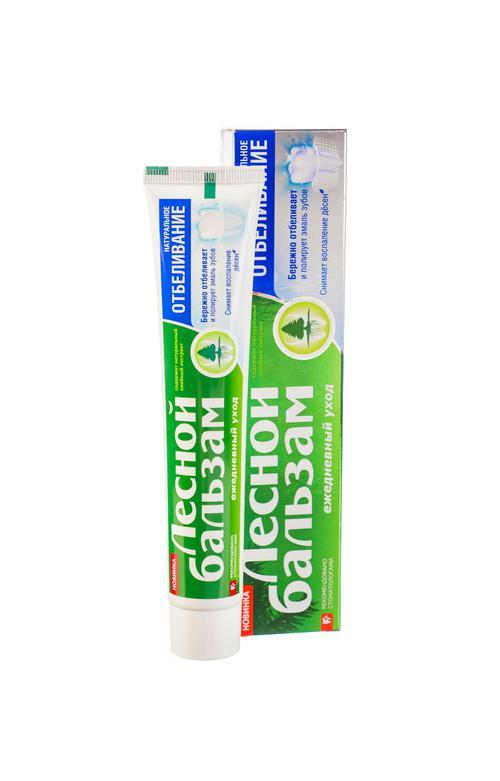 """описание Зубная паста """"лесной бальзам""""натуральное отбеливние и уход за деснами"""