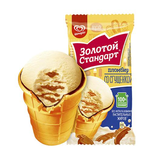 Пломбир со сгущенкой Золотой Стандарт®