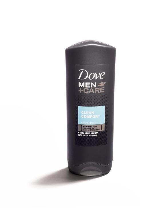 """цена Гель для душа для тела и лица """"Dove Men+care"""" Чистота и комфорт, мягкая формула, борется с сухостью кожи, 250мл"""