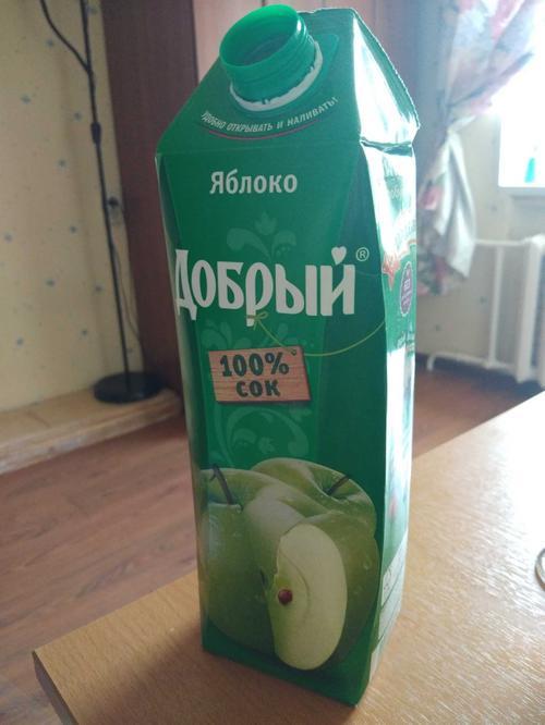 описание Сок Добрый яблочный, 1л.