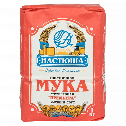 Мука пшеничная улучшенная «Премьера»«НАСТЮША» сорт Высший