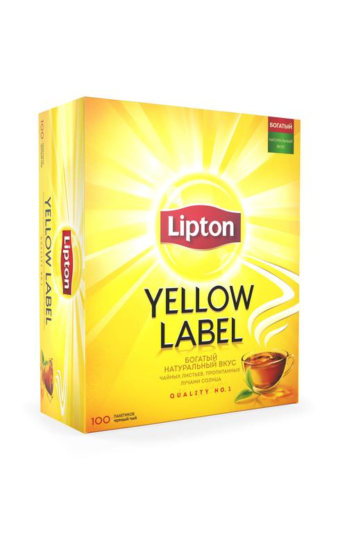 отзыв Чай Lipton Yellow Label черный, 100пак.