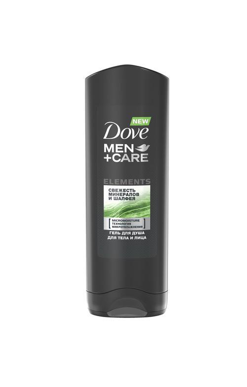 """цена Dove Men+Care гель для душа """"Свежесть минералов и шалфея"""", 250 мл"""