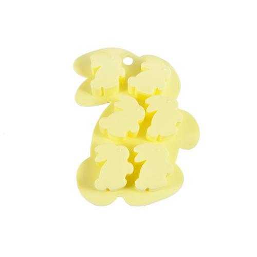 Форма для льда 6 ячеек ЗАЙЧАТА (силикон)