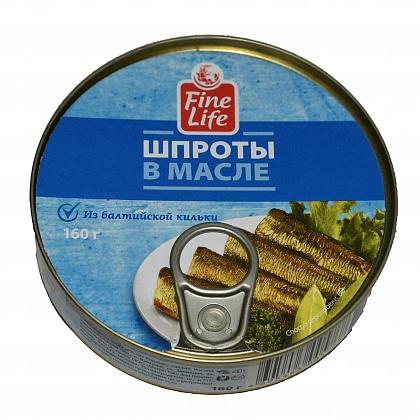 """Шпроты в масле из балтийской кильки """"Fine life"""""""