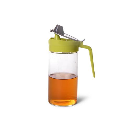 Бутылочка для масла 550мл с пластиковой крышкой (стекло)