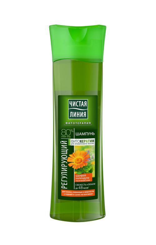 цена Шампунь, регулирующий чл на отваре целебных трав с экстрактами шалфея, календулы и тысячелистника для волос, склонных к жирности