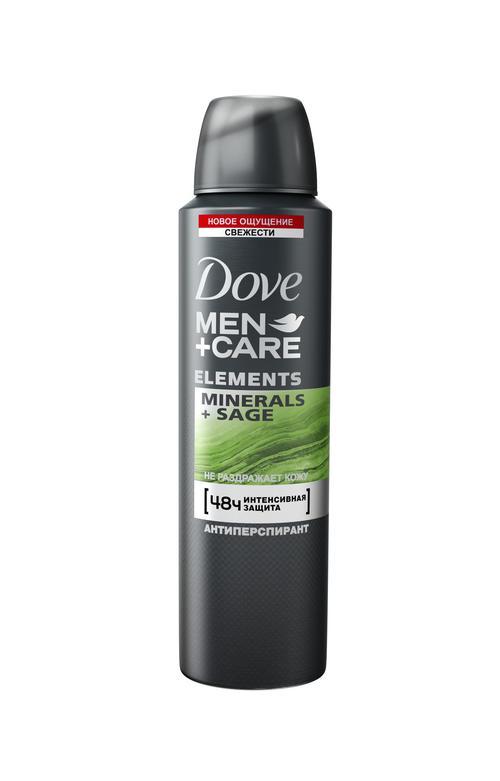 """цена Dove Men+Care антиперспирант аэрозоль """"Свежесть минералов и шалфея"""", 150 мл"""