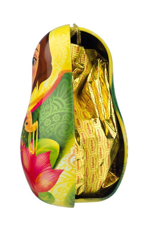 Набор Lipton «Новогодняя игрушка-матрешка» с листовым чаем