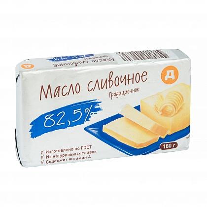 """Сливочное масло """"Д"""" (""""Дикси"""") Традиционное 82,5%"""