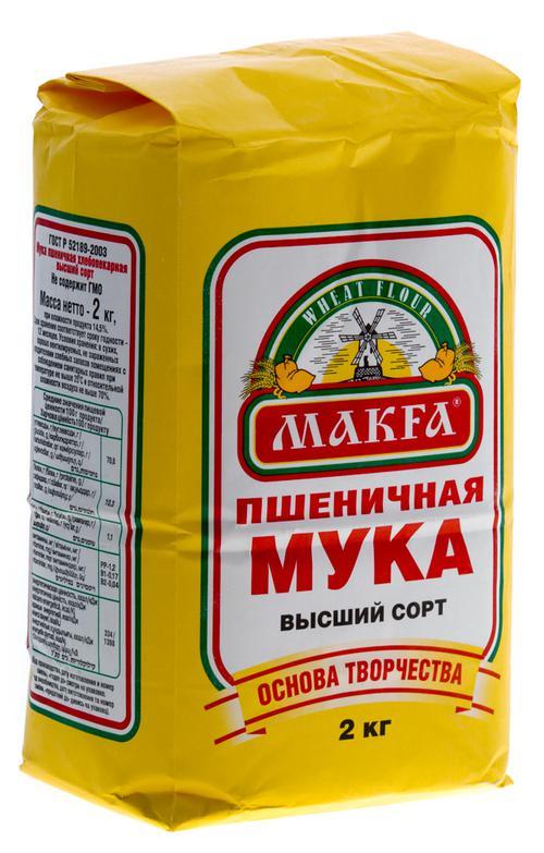 фото Мука пшеничная хлебопекарная «MAKFA»