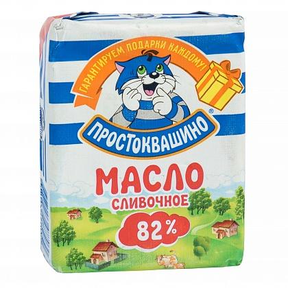Масло сливочное Простоквашино массовая доля жира 82%. Высший сорт
