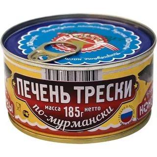 Печень трески по-мурмански Вкусные Консервы 185г