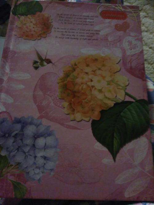 Ежедневник A5 идп.недат.лин тверд обл глян.лам.цветы и колибри
