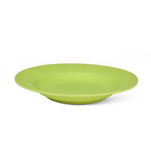 Тарелка 23x3,6см Глубокая, цвет Зеленый (бамбуковое волокно)