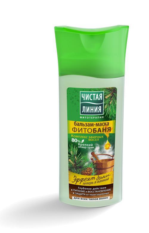 Чистая Линия  бальзам-маска  для всех типов волос Фитобаня, 230 мл