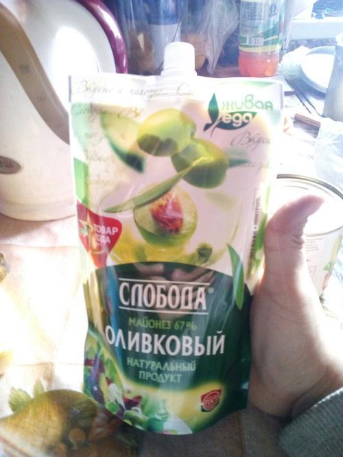 """фото22 Майонез """"Слобода"""" оливковый 67%, 400мл"""
