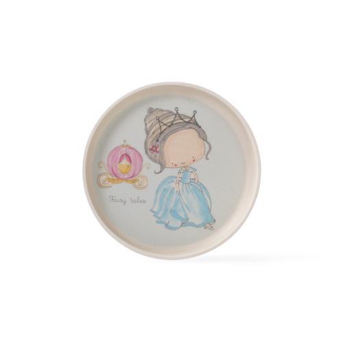 Тарелка 18см BLUE PRINCESS (бамбуковое волокно)