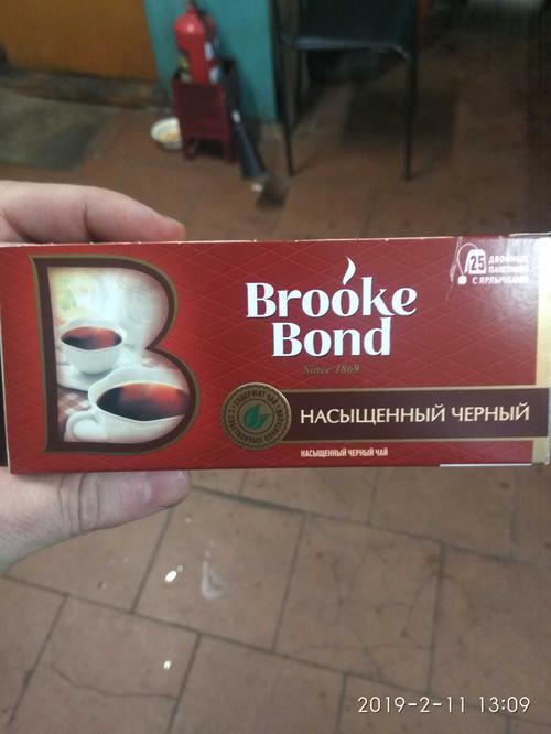 фото Чай черный brooke bond байховый, 25 пакетиков х 1,8г.