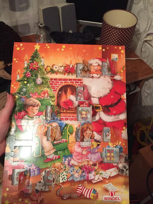 Windel Weihnachtskalender.Windel Adventskalender Mit Folie