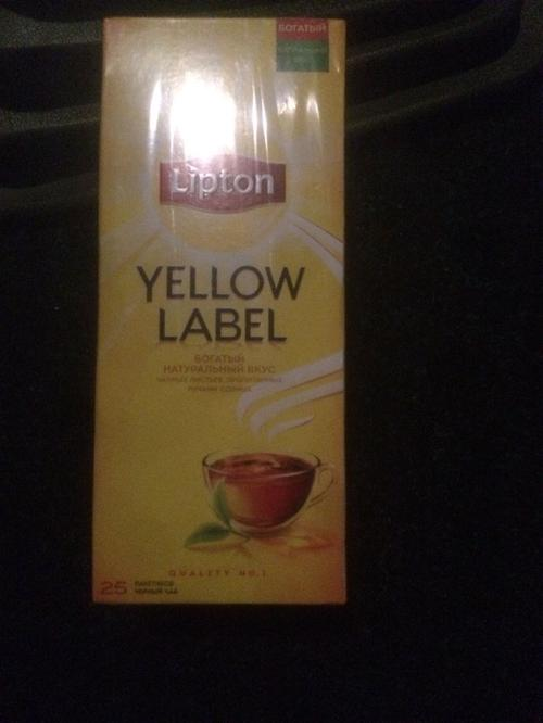 фото11 Чай Lipton Yellow Label черный, 25пак.