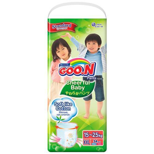 Подгузники-трусики Goon Cheerful Baby XXL 15-25кг 34шт