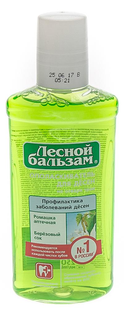 Ополаскиватель для дёсен лесной бальзам с экстрактом ромашки и березовым соком на отваре трав