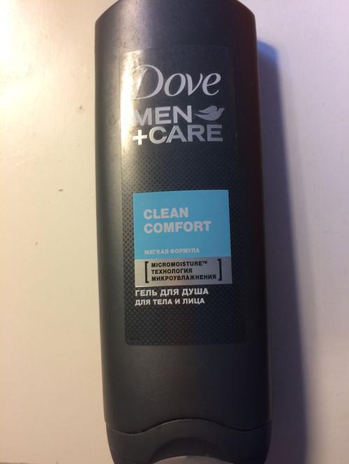 """фото1 Гель для душа для тела и лица """"Dove Men+care"""" Чистота и комфорт, мягкая формула, борется с сухостью кожи, 250мл"""