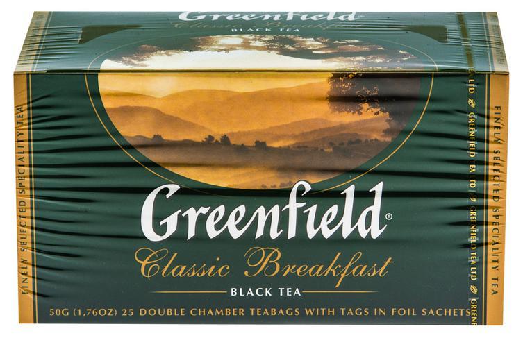 Чай черный байховый Гринфилд Классик Брекфаст в пакетиках