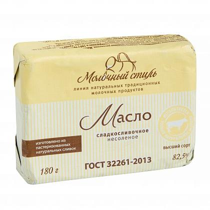 Масло сливочное традиционное сладкосливочное несолёное. Массовая доля жира не менее 82.5%