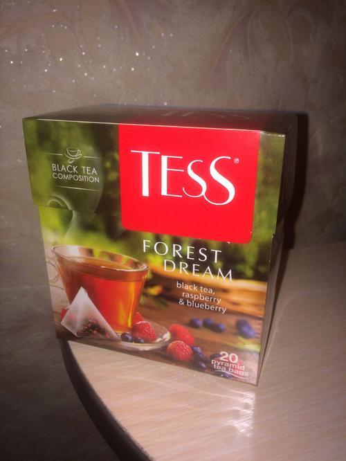 фото4 Чай черный байховый с ароматом малины и черники Тесс Форест Дрим в пакетиках