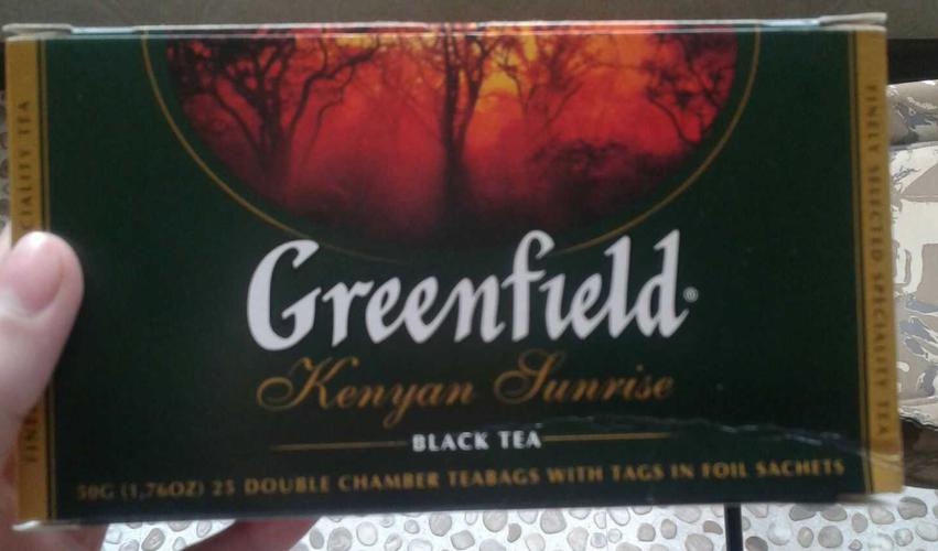 фото2 Чай черный байховый Гринфилд Кениан Санрайз в пакетиках