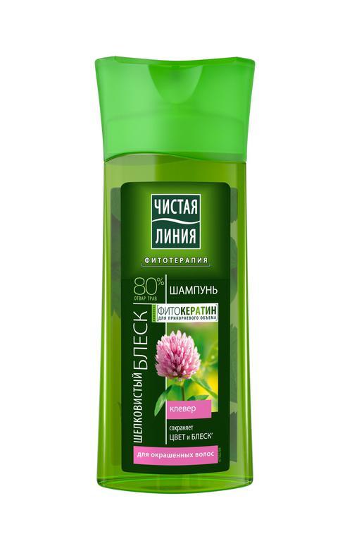 """Шампунь """"шелковистый блеск"""" на отваре целеб трав с экстрактом клевера для окрашенных волос"""
