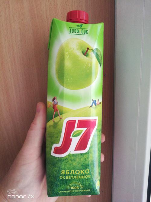фото Сок J7 яблочный