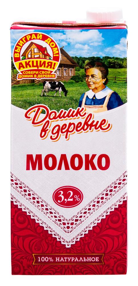 """Молоко """"Домик в деревне"""" 3,2% ультрапастеризованное"""