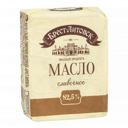 """Масло сладко-сливочное несолёное """"Брест-Литовск"""". Массовая доля жира 82.5% Высший сорт"""