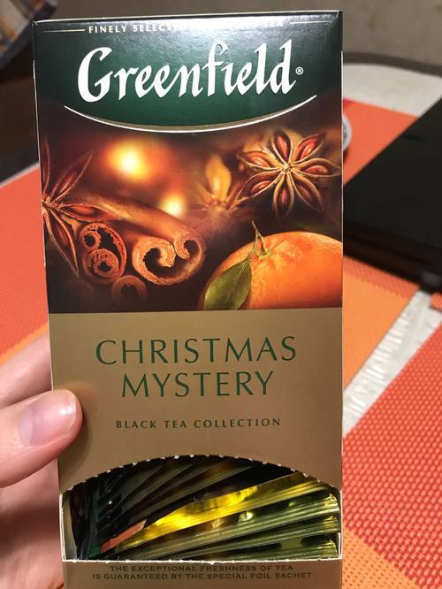 Чай черный байховый Гринфилд Кристмас Мистери в пакетиках