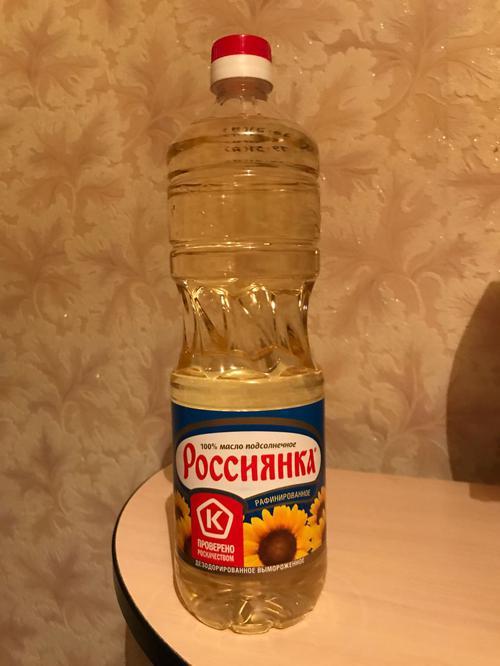 """описание Подсолнечное масло """"Россиянка"""""""