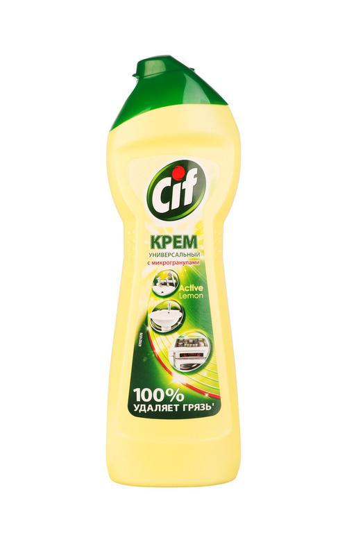 цена Чистящий крем Сif Актив Лимон. 250мл.
